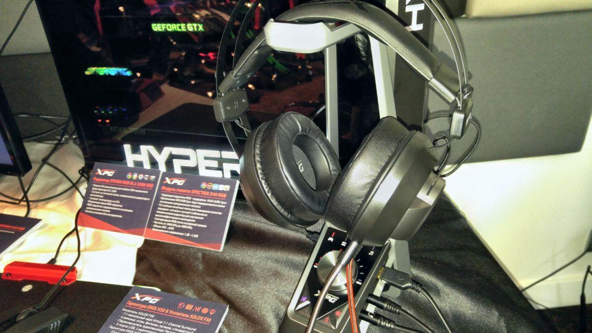 Игровая гарнитура EMIX H30 и станция с усилителем SOLOX F30