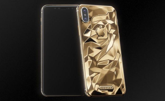 В России создали iPhone X из «жидкого золота»