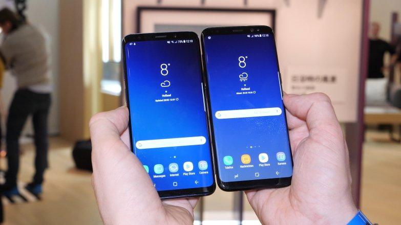 Чтобы увидеть разницу, нужно присмотреться очень внимательно: слева — это Galaxy S9