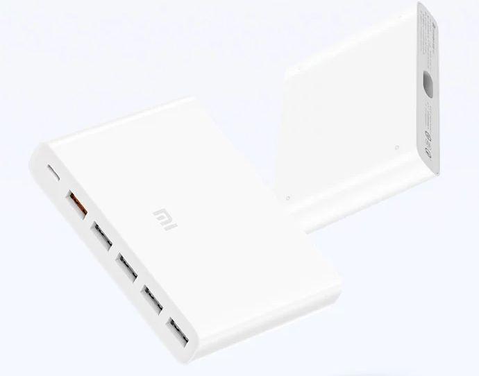 Xiaomi представила мощное зарядное устройство с шестью портами