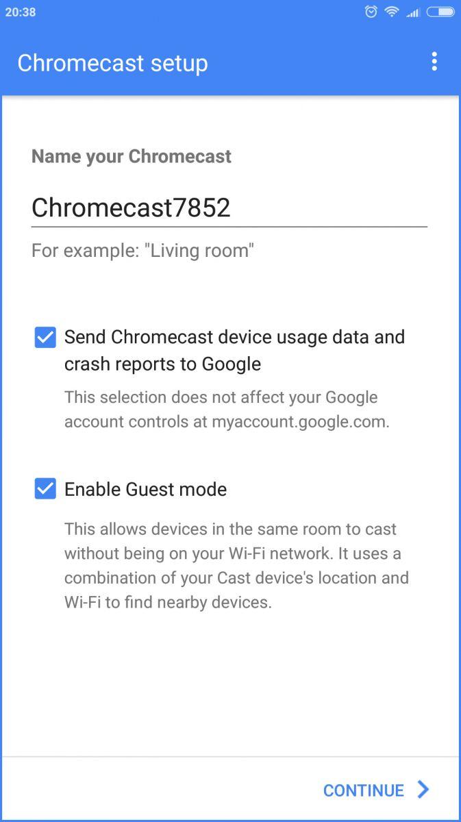 Вход в Chromecast