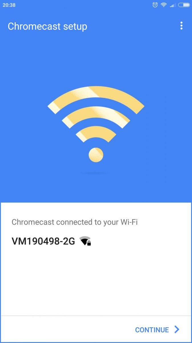 Подключаем Сhromecast к беспроводной сети