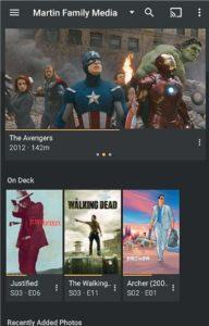 Клиентская часть программы Plex (на рисунке — версия для Android) воспроизводит контент, который преобразуется сервером с учетом доступной пропускной способности и возможностей воспроизведения клиента