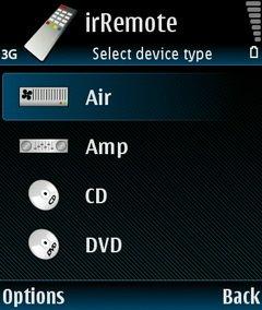 irRemote - пульт под Symbian