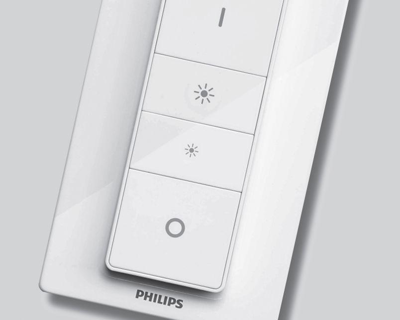 Одновременное нажатие кнопок включения и выключения диммера лампы Hue приводит к сбросу