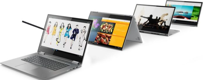 Стартовали российские продажи китайских ноутбуков Lenovo Yoga 730, 530 и 330