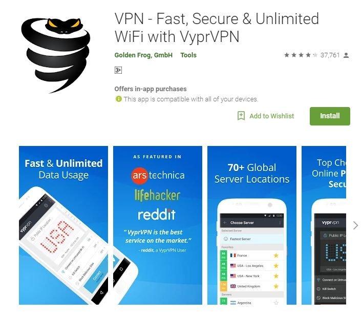 Лучшие VPN для Android