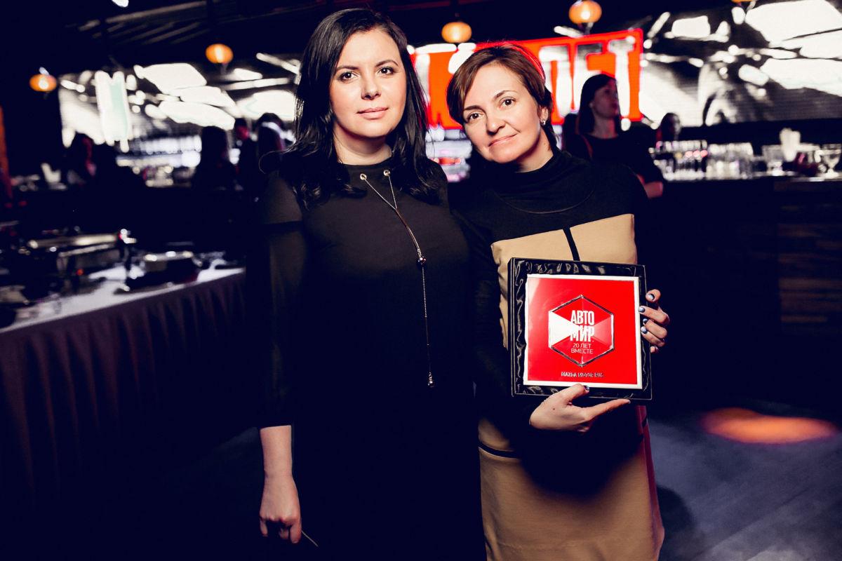 PR директор компании Мазда Мотор Рус Мария Магуайр и Мария Калита