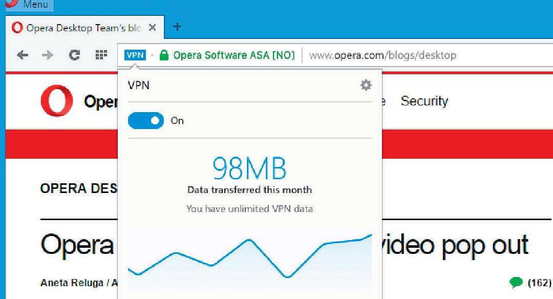 Технология VPN в браузере Opera не даст отобразиться модифицированным рекламным баннерам, распространяющим вирусы