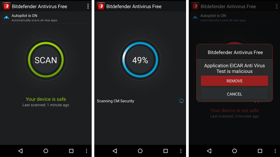 Лучшие антивирусы для Android: Bitdefender Antivirus Free