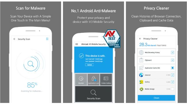 Лучшие антивирусы для Android: AhnLab V3 Mobile Security
