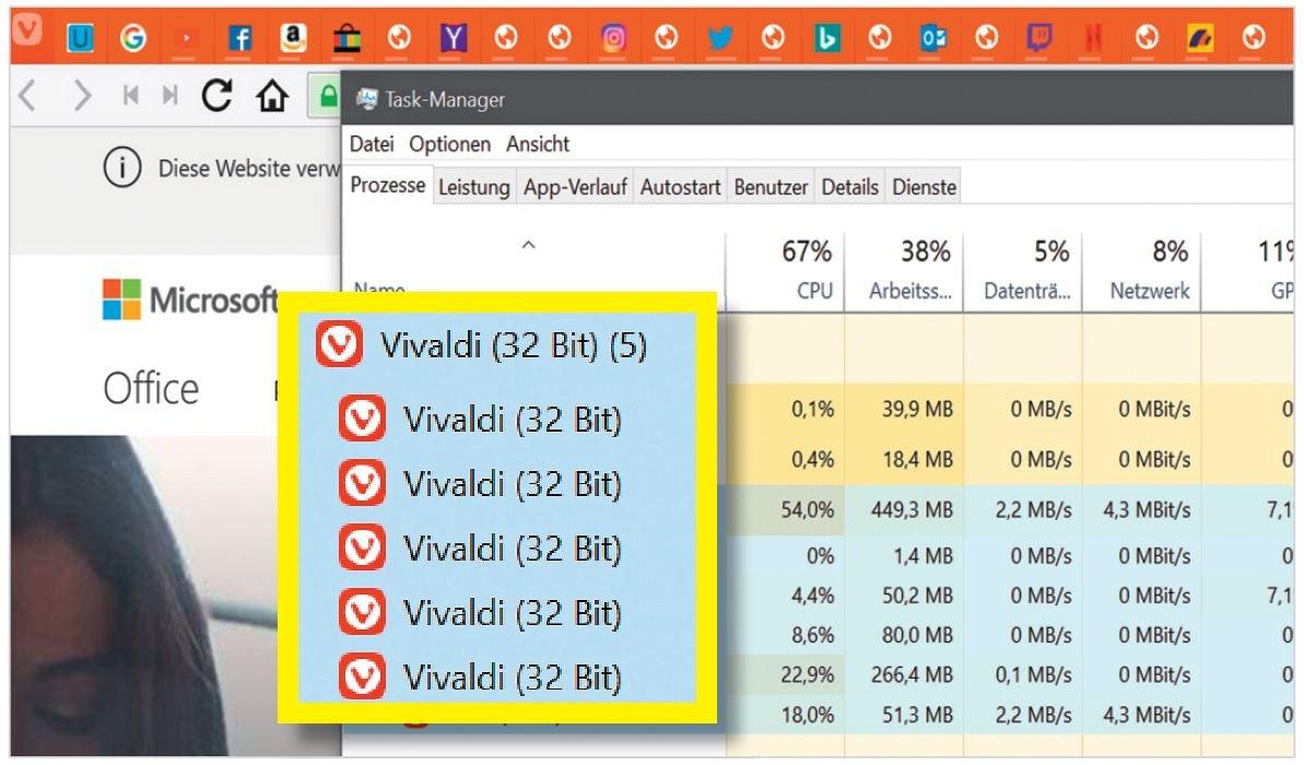 Мультипоточность: дебютант Vivaldi разделяет ядро браузера и веб-страницы на отдельные процессы