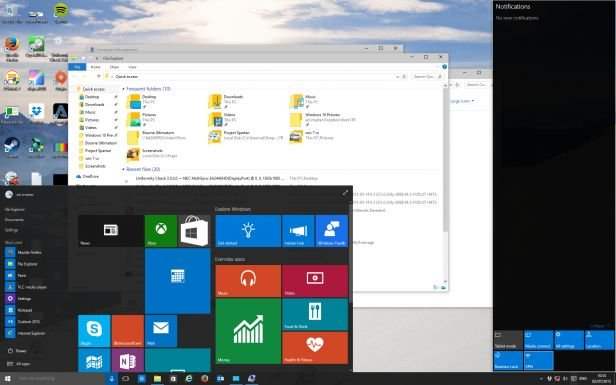 Дизайн Windows 10