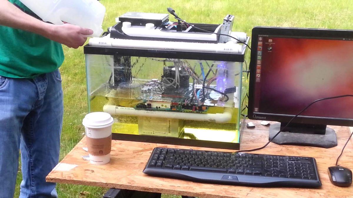 Масляное охлаждение компьютера: за и против