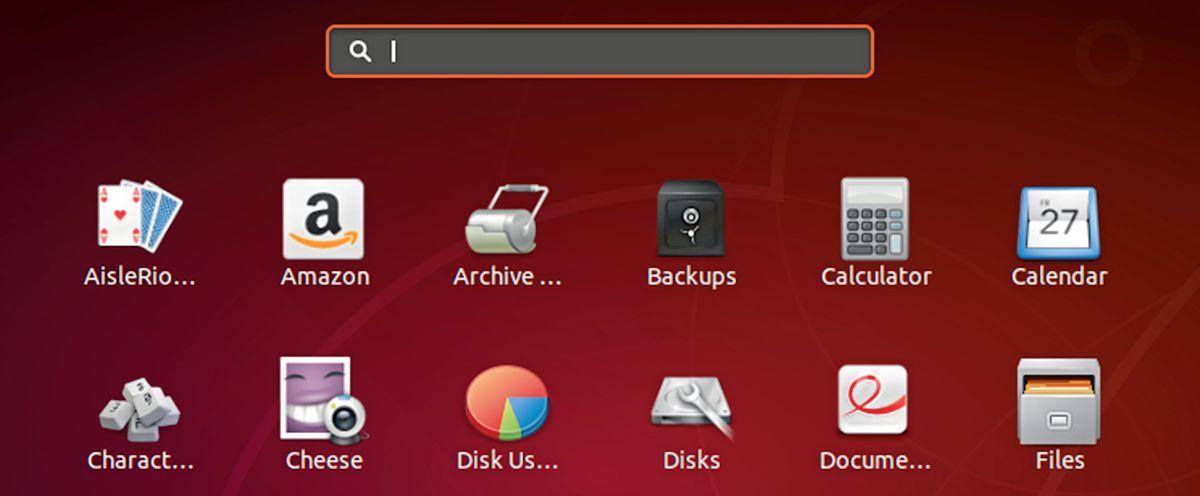 Меню «Dash» в Ubuntu исполняет роль стартового меню. Часто бывает достаточно ввести первую букву в строку поиска, чтобы найти нужное