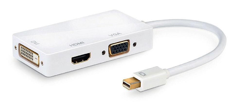 адаптере Mini-DisplayPort от компании CSL нет аудиоразъема, однако есть дополнительный DVI-порт