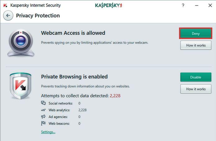 «Укажите» программе, что веб-камера входит в число доверенных устройств