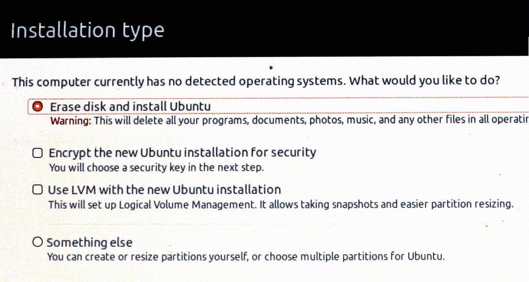 Если хотите оставить Windows, обязательно выберите «Install Ubuntu alongside Windows 10» (c UEFI)
