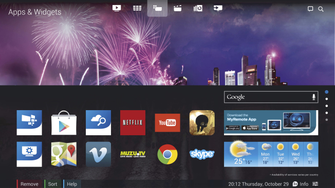 Android TV подготовил для Philips 65OLED873 огромное количество приложений и игр