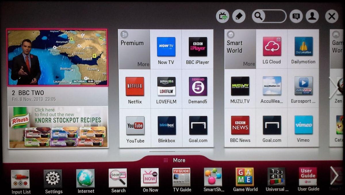 Приложения для LG Smart TV: найти и установить