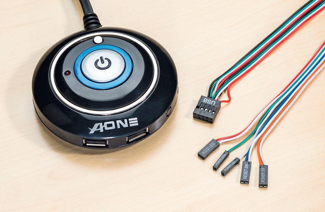 Если кнопки корпуса Power или Reset неисправны, можно их заменить внешней настольной кнопкой
