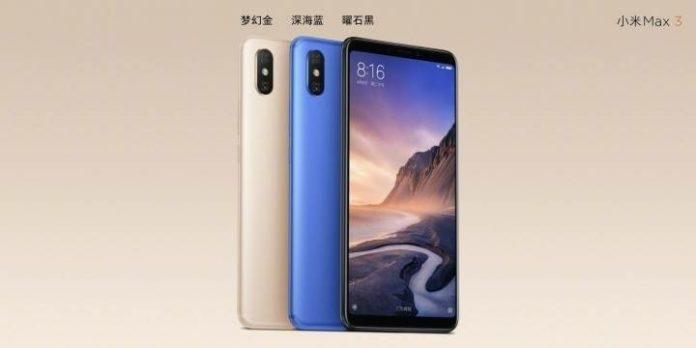 Xiaomi Mi Max 3 показали официально