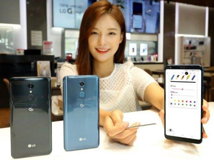 LG представила большой и защищенный смартфон Q8 (2018)