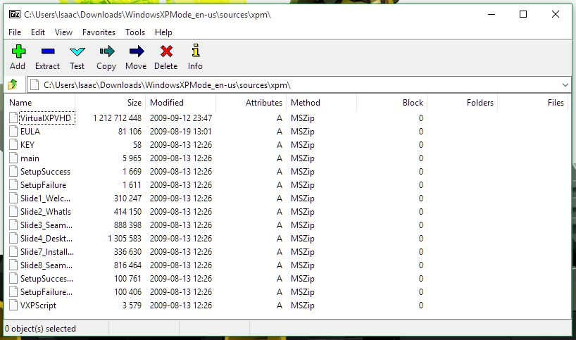 WinRAR для XP mode