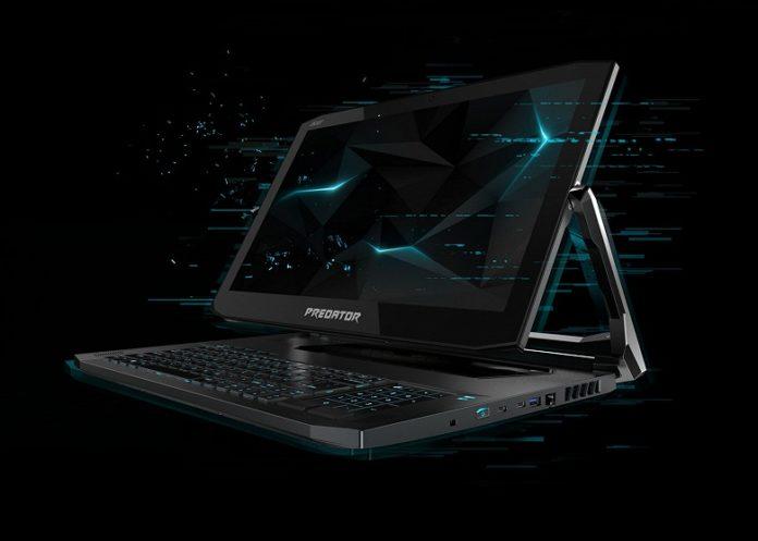 Acer анонсировала необычный игровой ноутбук-трансформер
