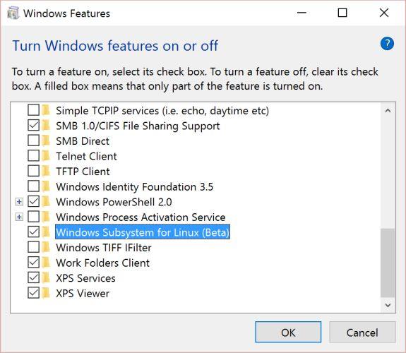 Как активировать подсистему Linux под Windows