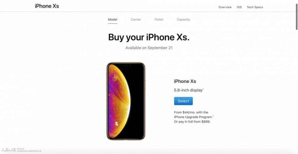 iPhone Xs - дизайн, цена и дата начала продаж