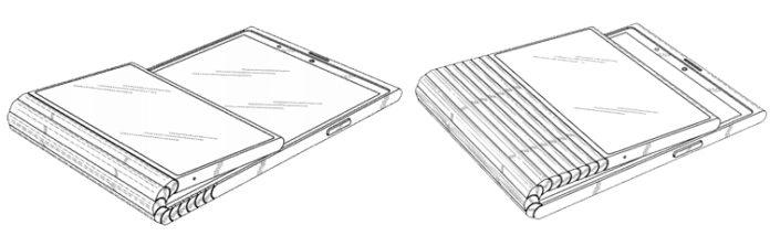 Lenovo получила патент на гибкий смартфон с двумя экранами