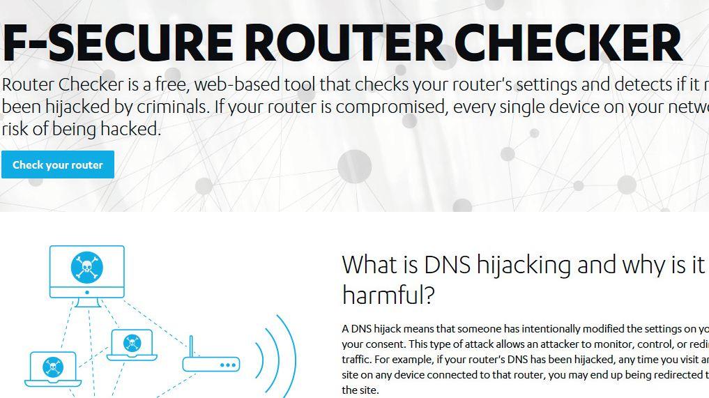 На сайте F-Secure вы можете выяснить, не было ли установлено на вашем роутере нежелательное перенаправление DNS