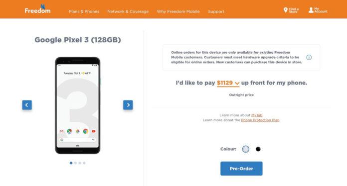 Google Pixel 3 и Pixel 3 XL: официальные характеристики и цены