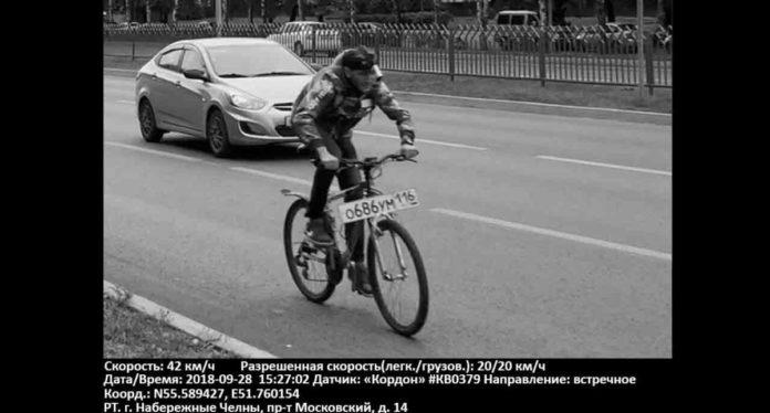 В России выписали штраф за превышение скорости на велосипеде
