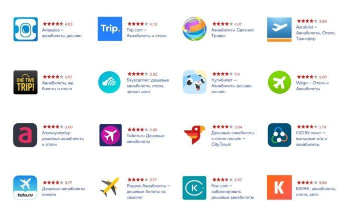 Рейтинг: лучшие приложения для заказа авиабилетов