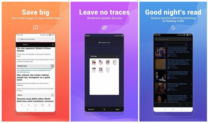 Xiaomi выпустила суперлегкий мобильный браузер с функцией экономии трафика