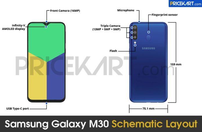 Смартфон Samsung Galaxy M30 получил большой дисплей и емкий аккумулятор