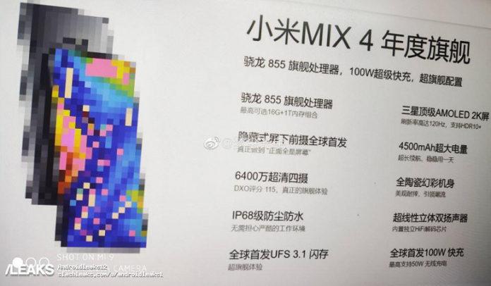 Флагманский смартфон Xiaomi Mi Mix 4 поражает своей крутостью