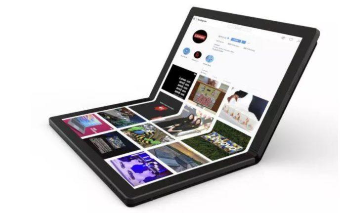 Lenovo показала первый в мире ноутбук с гибким дисплеем