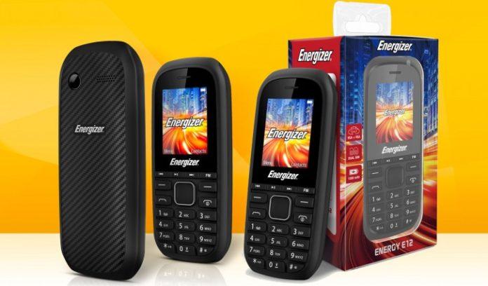 Мобильный телефон Energizer E12 за 860 руб. работает до 7 дней на одном заряде