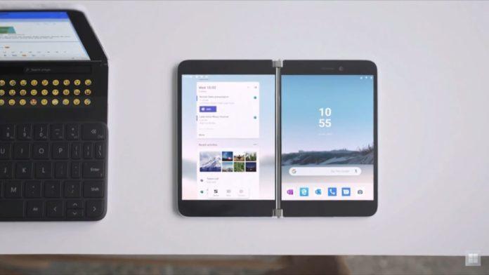 Microsoft неожиданно представила свой первый смартфон на Android. У него два экрана!