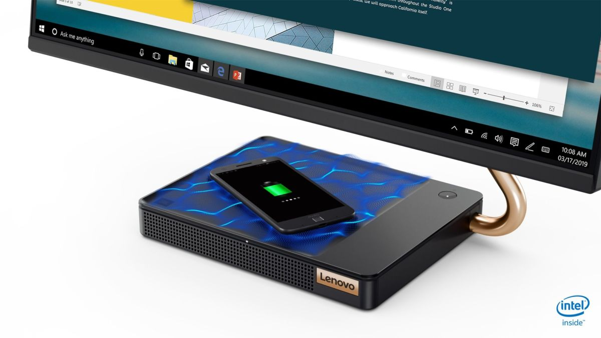 В Россию приехал моноблок Lenovo со встроенной беспроводной зарядкой для смартфона и мощным звуком от JBL