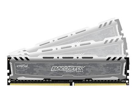 Crucial Ballistix Sport LT grau 4x 8GB DDR4-2400 (BLS4C8G4D240FSB)