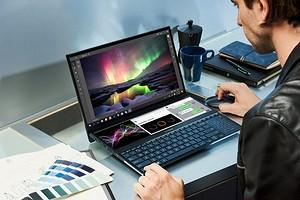 ASUS представила безумный ноутбук с двумя большими 4K-экранами и клавиатурой!