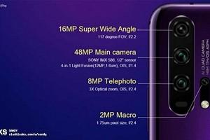 Honor 20 Pro получил необычную камеру с четырьмя модулями