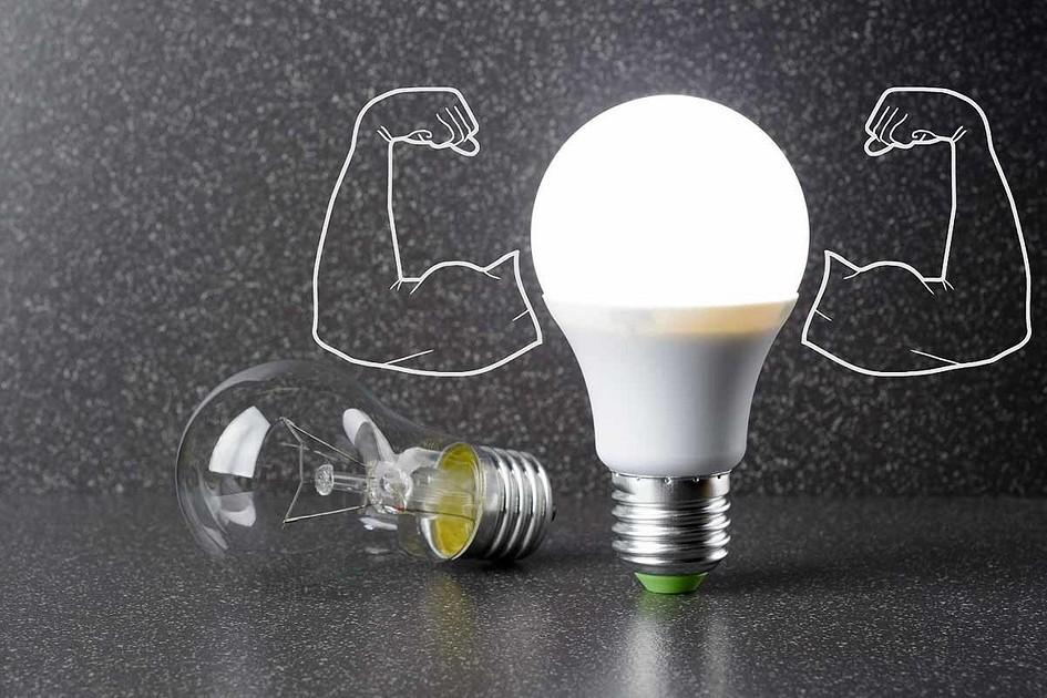 Мощность эконом ламп