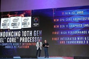 Intel представил мобильные процессоры 10-го поколения