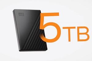 Western Digital выпускает самый тонкий портативный жесткий диск емкостью 5ТБ