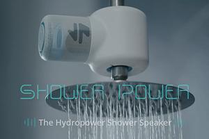 Представлена беспроводная колонка, питающаяся от энергии воды в душе